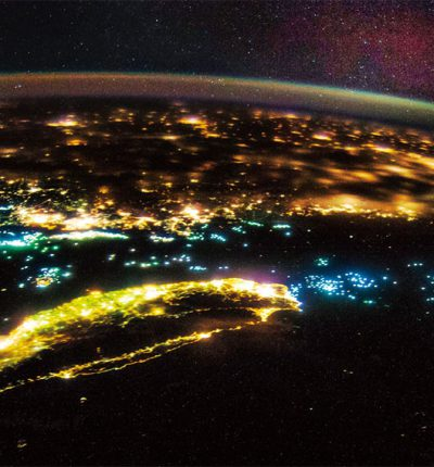 NASA夜拍台灣空照圖
