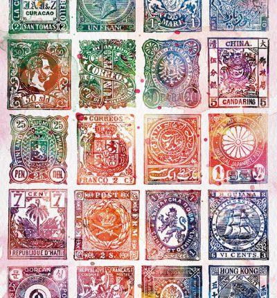 世界各國老郵票