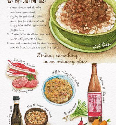 明信片 滷肉飯