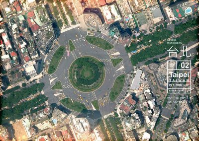 明信片 城市地圖 台北