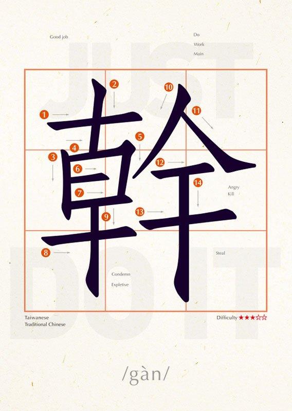 明信片 學中文 幹