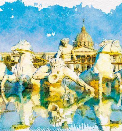 明信片 繪畫 台南 奇美博物館