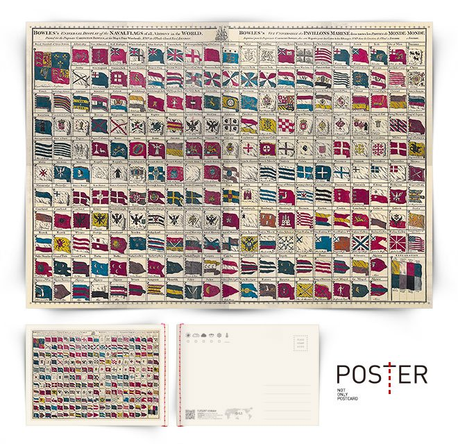 海報明信片 世界國旗 1783