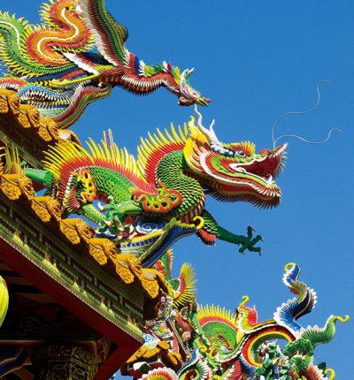 明信片 廟宇