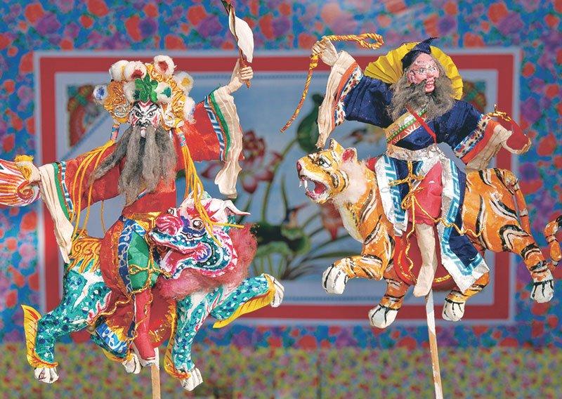 台灣風景明信片 廟會慶典.戲偶