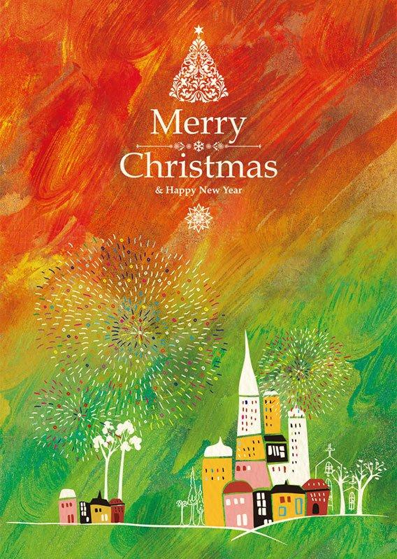 聖誕快樂明信片