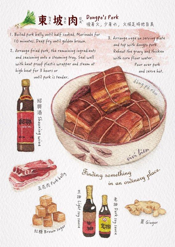 尼森設計 東坡肉 明信片