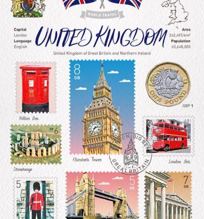 世界旅行 明信片 英國 United Kingdom