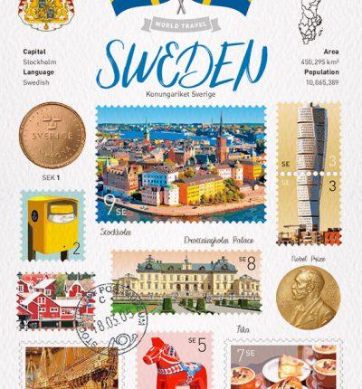 Sweden 瑞典明信片