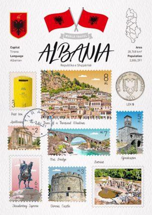 Albania 阿爾巴尼亞 明信片