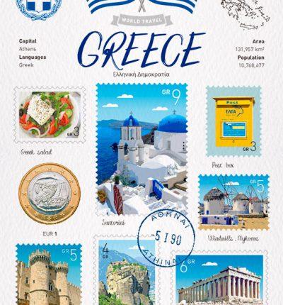 世界旅行 明信片 希臘 Greece