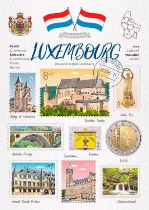 世界旅行 明信片 盧森堡 Luxembourg