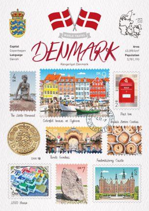 世界旅行 明信片 丹麥 Denmark