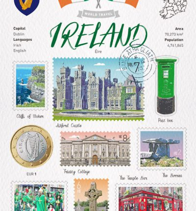 世界旅行 明信片 愛爾蘭 Ireland