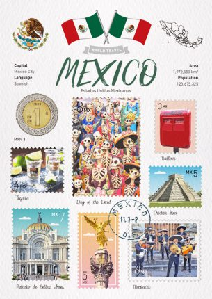 世界旅行 明信片 墨西哥 Mexico