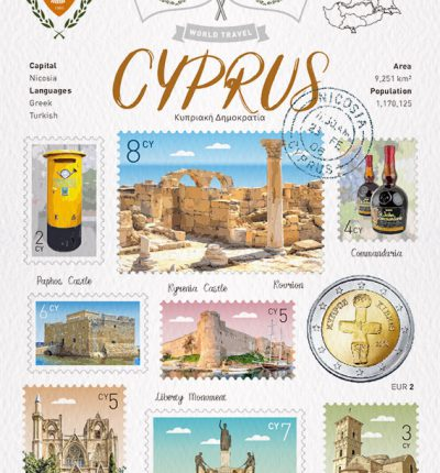 世界旅行 明信片 賽普勒斯 Cyprus