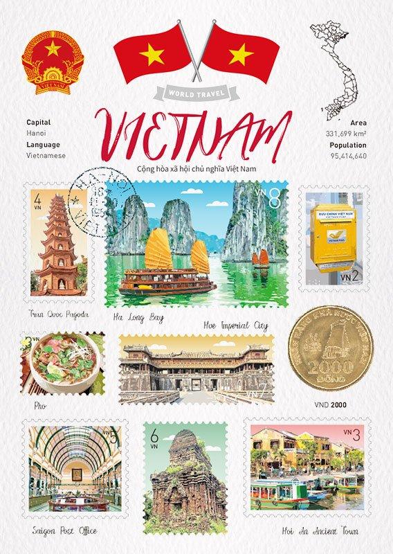 世界旅行 明信片 越南 Vietnam