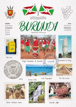 世界旅行 明信片 蒲隆地 布隆迪 Burundi