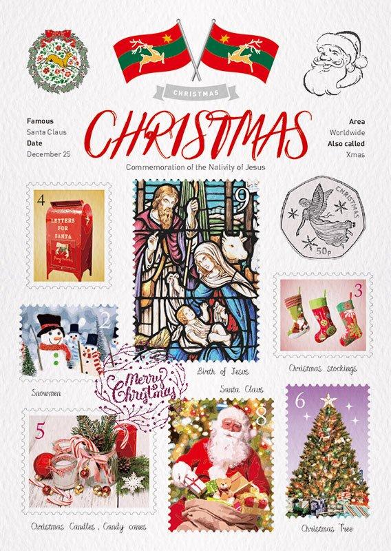 世界旅行 明信片 聖誕節 Christmas