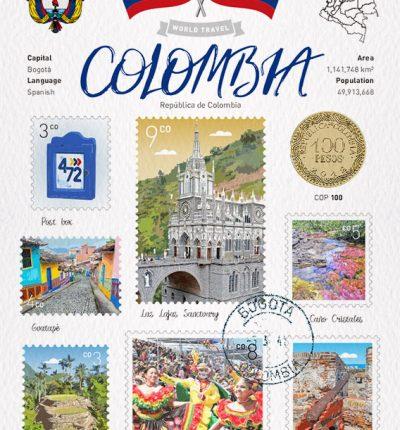 世界旅行 明信片 哥倫比亞 Colombia