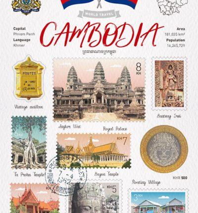 世界旅行 明信片 柬埔寨 Cambodia