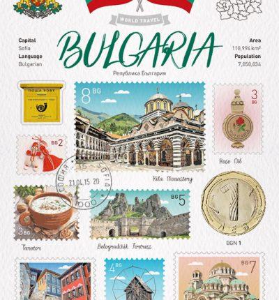 世界旅行 明信片 保加利亞 Bulgaria