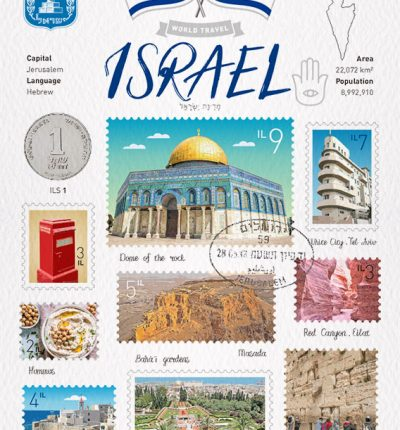 世界旅行 明信片 以色列 Israel